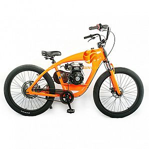 New Model 4-Stroke OHV 80CC Chopper Bike Gas Bicycle Chopper Bicycle Gas Bike