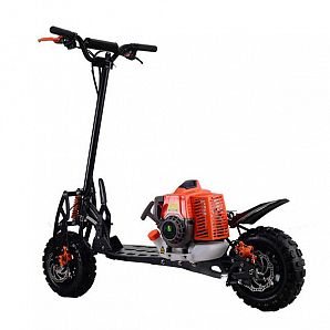 71cc 2-Stroke Folding Gasoline Scooters Disc Brake 3 Speeds Shifter