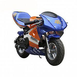Sunway 49cc Super Pocket Bike 2-Stroke, Air Cooled